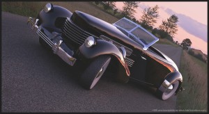 1280x700_3448_Into_the_flaming_sunset_3d_automotive_vintage_retro_old_car_picture_image_digital_art