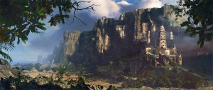 1400x596_9299_Cathedral_2d_landscape_matte_painting_castle_mountains_fantasy_picture_image_digital_art