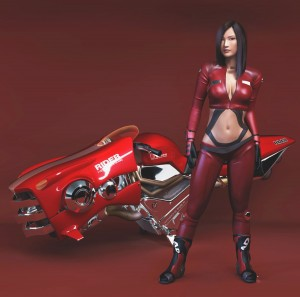 1500x1486_4316_Red_Rider_3d_sci_fi_girl_woman_vehicle_bike_picture_image_digital_art