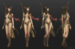 1600x1052_13381_The_elf_3d_fantasy_character_elf_archer_woman_picture_image_digital_art