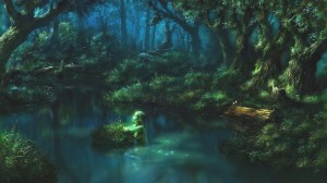 1600x901_15162_Night_Memories_2d_fantasy_landscape_game_art_mermaid_forest_picture_image_digital_art