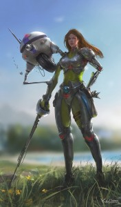 603x1024_16529_Mechanical_female_2d_sci_fi_girl_woman_warrior_cyborg_picture_image_digital_art