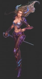 866x1600_14372_Warrior_2d_fantasy_warrior_girl_woman_picture_image_digital_art